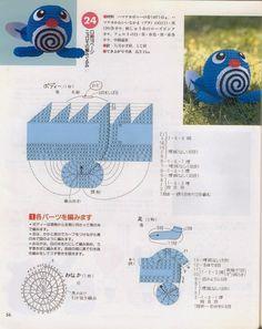 Blog de Goanna: Muñecos Pokemon en Amigurumi Crochet Game, Crochet Baby Toys, Cute Crochet, Crochet Animals, Crochet Motif, Crochet Crafts, Yarn Crafts, Pokemon Crochet Pattern, Crafts