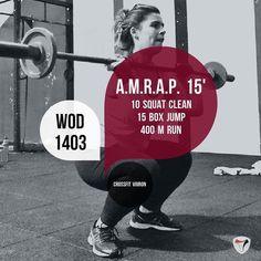 #wod #crossfitvoiron #voiron #crossfit #amrap #squatcleans #boxjumps #running #training