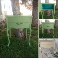 Vintage sewing table turned into side table with added storage