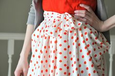 Tutorial: Gathered drape skirt with pockets by Lizzie at Cotton and Curls