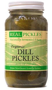 Brine fermented dill pickles