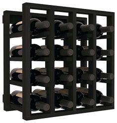 lattice stacking wine cubicle in redwood with black stain black black wine rack black wall wine glass rack