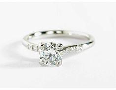 0.9 Carat Diamond Petite Diamond Engagement Ring   Recently Purchased   Blue Nile