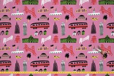 I Love San Francisco Fabric