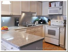 Backsplash with the look of Stainless Steel