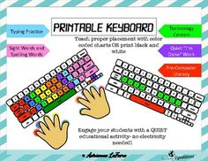 #TPTFIREWORKS Printable Keyboard for Typing Practice