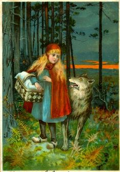 Could Little Red Riding Hood reveal the history of human migration? Spread of folk tale across the world shows man's journey The original yarn, upon which Little Red Riding Hood was based, first appeared in Europe in the first century AD Red Riding Hood Wolf, Little Red Ridding Hood, Charles Perrault, Red Hood, Erotica, Illustration Art, Vintage Illustrations, Disney, Red Riding Hood
