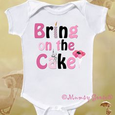 Girls First Birthday Onesie by Mumsy Goose Cake Smash Shirt. $14.95, via Etsy.
