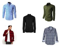 """""""Shirts"""" by die-ammy ❤ liked on Polyvore featuring Banana Republic, Versus, Superdry, LE3NO, men's fashion and menswear"""