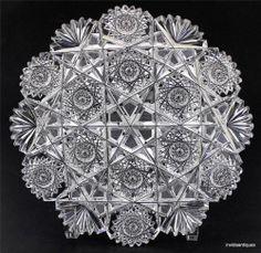 J Hoare ABP American Brilliant Cut Glass Plate - Champion
