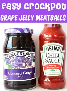 Grape Jelly Meatballs Crockpot Recipe! Sliders are perfect for a fun dinner or party appetizer, and this tasty dish really is one of the easiest things you'll ever make! Just 5 ingredients and you're done! Go grab the recipe and give it a try this week! Slow Cooker Recipes, Crockpot Recipes, Cooking Recipes, Crockpot Dishes, Beef Dishes, Appetizer Recipes, Appetizers, Meatball Sliders, Sliders Burger