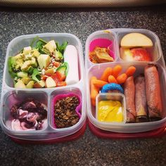 Healthy work lunch packed in some #EasyLunchboxes containers