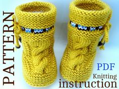 P A T T E R N Baby Booties Baby Shoes Pattern by Solnishko43