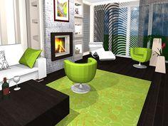 Minimál stílusú nappali, étkező, konyha enteriőr - látványterv 3d Interior Design, Minimalism, Contemporary, How To Plan, Home Decor, Decoration Home, Room Decor, Home Interior Design, Home Decoration