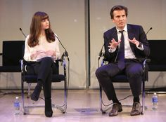 #AWXI Advertising Week: Teressa Iezzi (L) and Yannick Bollore speak onstage at the Fast Company One On One: Yannick Bollore