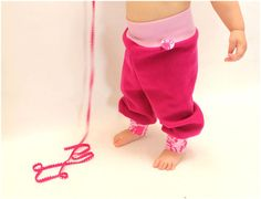 Kinderhose in pink Wollhose pumphose aus wolle von PicknickerBlue