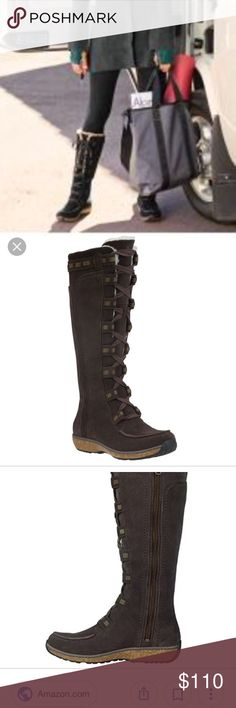 $95 through offer button less if bundled Stunning timberland boots , genuine suede leather , pure lamp Wool all around inside the boots , super warm and comfy , very strong and durable boots , stylish and cute Timberland Shoes Winter & Rain Boots
