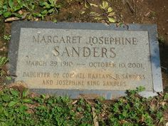 Daughter of Colonel Sanders memorial-cave Hill Cemetery