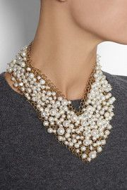 RosanticaOsiris gold-dipped pearl necklace.