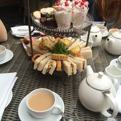 I never understood the obsession with afternoon tea until this sexy lot appeared!  They even brought some homemade scones with jam & cream  so naughty... But so so nice..
