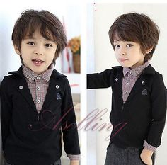Fall Winter Kids Boys Blouse Toddlers Plaids Long Sleeve T Shirt Shirt Top Suit | eBay