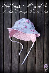 Allwetterhut für Kinder (Freebook ottobre) und mein Versuch, Stoff wasserdicht zu beschichten