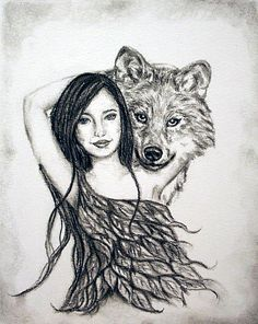 Kiara/9x12.Charcoal on watercolor paper.Sold