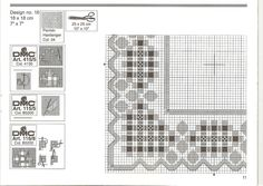 doily Permin Hardanger number 16-Book 15116