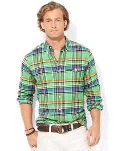 21226a01b2 Polo Ralph Lauren - Green Plaid Bleecker Shirt for Men - Lyst