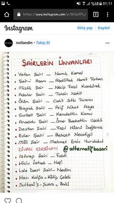 Dünya mutfağı – The Most Practical and Easy Recipes Turkish Language, Good Notes, 2 Instagram, Studyblr, Premium Wordpress Themes, School Supplies, Literature, How To Plan, Education