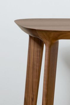 Fawn End Table WalnutMaterials Solid wood legs available in walnut or oak, with a durable engineered wood top. Made in USA