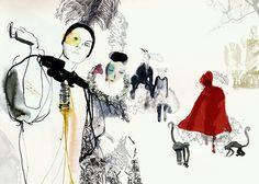 Little red riding hood X by Daniel Egnéus - www.artelimited.com/artists/daniel-egneus