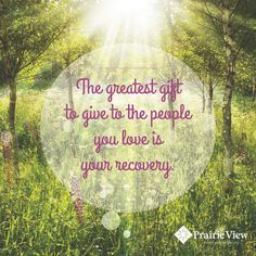 Recovery is the best gift to give!