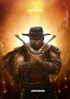 Mortal Kombat X-Erron Black-Gunslinger Variation by Grapiqkad.deviantart.com on @DeviantArt