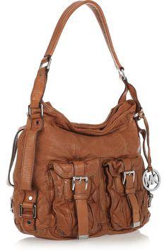 MICHAEL Michael Kors Princeton washed leather shoulder bag 2