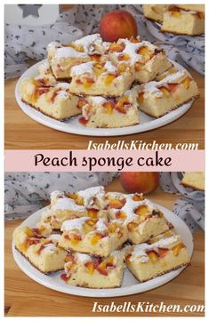 Peach sponge cake - video recipe - isabell's kitchen