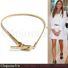 El #cinturón metálico dorado con cierre de #hebilla es un #complemento clásico que combina con multitud de prendas de tu guardarropa. Un #accesorio atemporal que podrás conjuntar fácilmente con cualquier look. ¡También lo tenemos en plateado! ★ Precio: 11,95 € en http://www.conjuntados.com/es/cinturones/cinturon-metalico-dorado-con-cierre-de-hebilla.html ★ #novedades #belt #fashion #accesorios #moda #estilo #style #regalos #detalles #GustosParaTodas #ParaTodosLosGustos