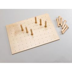 Rev-A-Shelf 4DPS-3921 - 39 x 21 Wood Peg Board System, 16 Pegs