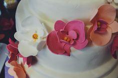 Orchideen aus Blütenpaste Hochzeitstorte