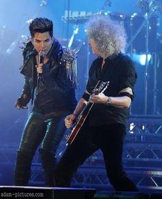 My two favorite people in one photo. Queen and Adam Lambert in Kiev