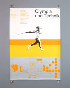 Otl Aicher and the 1972 Munich Olympics - Technology in the Olympic Games Exhibition Poster