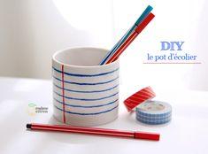 5 idées de pot a crayon en DIY pour un bureau bien rangé  et inspirant…  Créatifs et facile à réaliser, ils sauront mettre un peu de vous sur votre bureau http://mycdeco.blogspot.fr/ http://cdecoandco.com