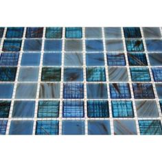 Splashback Tile Bahama Blue 13 in. x 13 in. x 4 mm Glass Mosaic Floor and Wall Tile-BAHAMA BLUE at The Home Depot