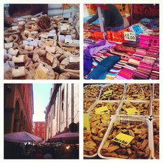 """""""Stumbled upon a lively street market on Via Altabella, Bologna"""" - Instagram by @bushbirdie"""
