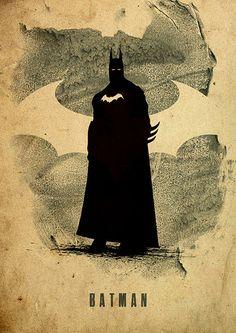 Justice League Minimalist Poster Set / Batman Green by moonposter