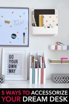 Feeling uninspired by your workspace? Dress your desk with our fave accessories! #GearUpForCollege