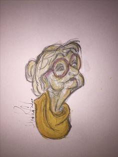 #art #artwork #lady #old #watercolor #watercolorpainting
