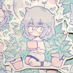 Plant Girl Sticker