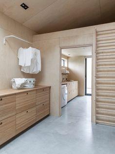 New Project by Ask og Eng in Ålesund - COCO LAPINE DESIGNCOCO LAPINE DESIGN Bathroom Furniture, Home Furniture, Furniture Design, Bamboo Texture, Metal Shelving Units, Alesund, Idee Diy, Hanging Rail, Vanuatu