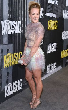 Carrie Underwood from The Big Picture: Today's Hot Photos  Legs for Days! The country singer shows off her glamorous gams during the CMT Music Awards.